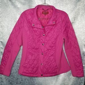 Merona Lightweight Puff Jacket Fuchsia Pink XXL